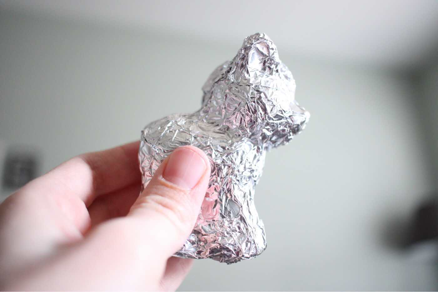 Foil wrapped toys - a simple activity to give old toys new life