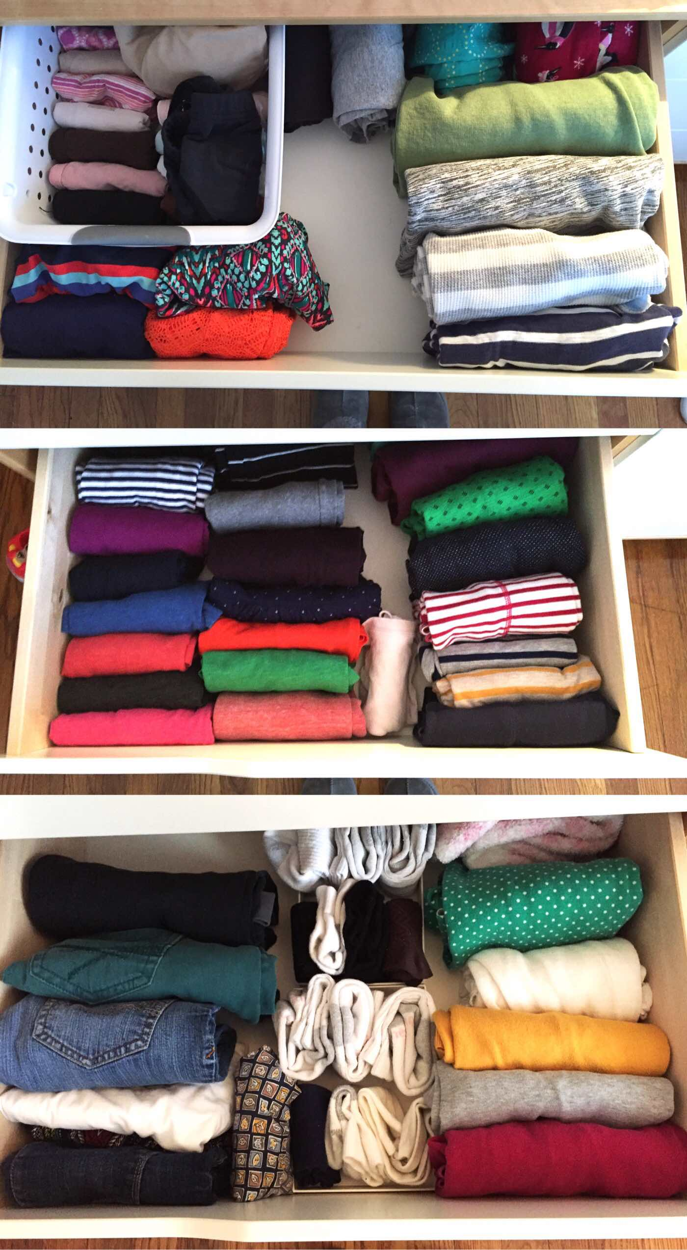 clothes folded the KonMari way