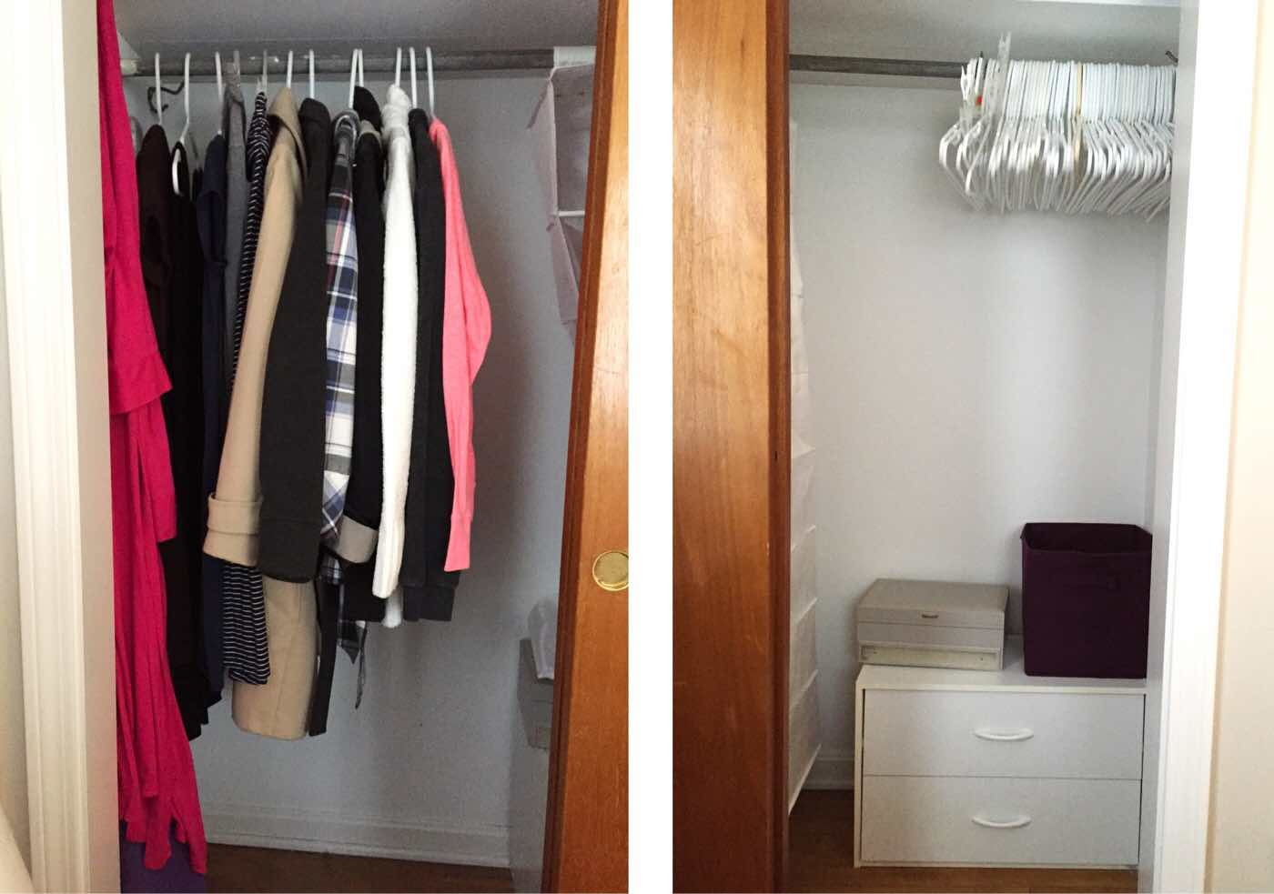 closet after the KonMari method