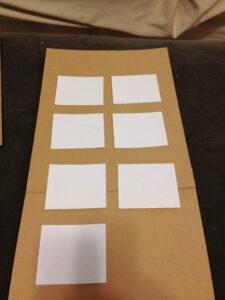 meal planning board arrangement