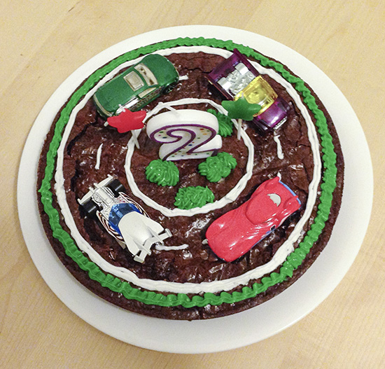 Birthday cake for a car themed party
