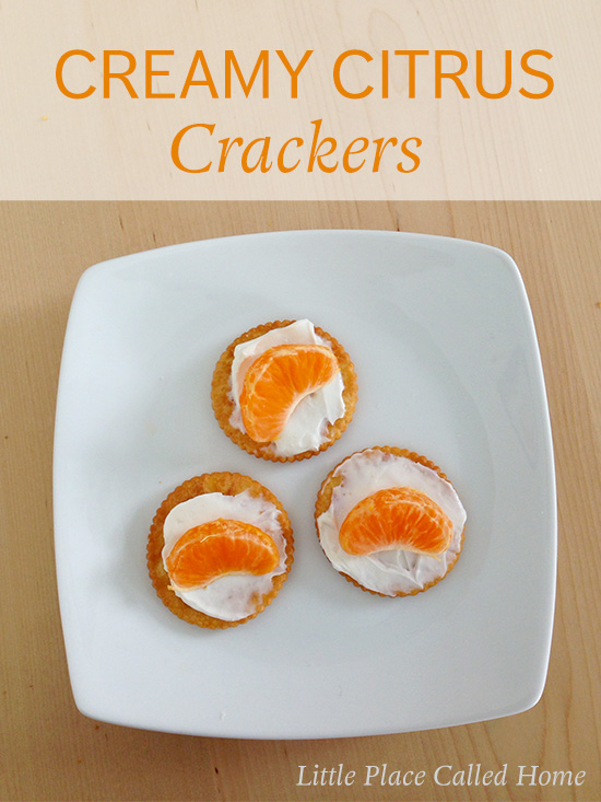 Creamy Citrus Crackers - a healthy snack from littleplacecalledhome.com